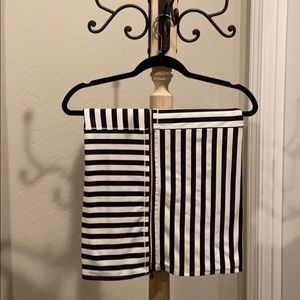 """Lululemon """"vinyasa"""" scarf black/white/gold zipper"""